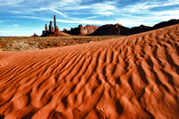 Monument Valley Dunes and Totem